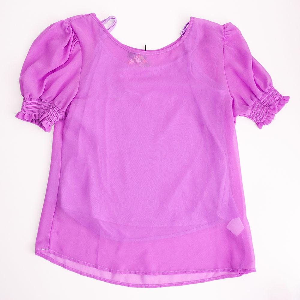 Camiseta Menina 3 Marias em Crepe Lilás