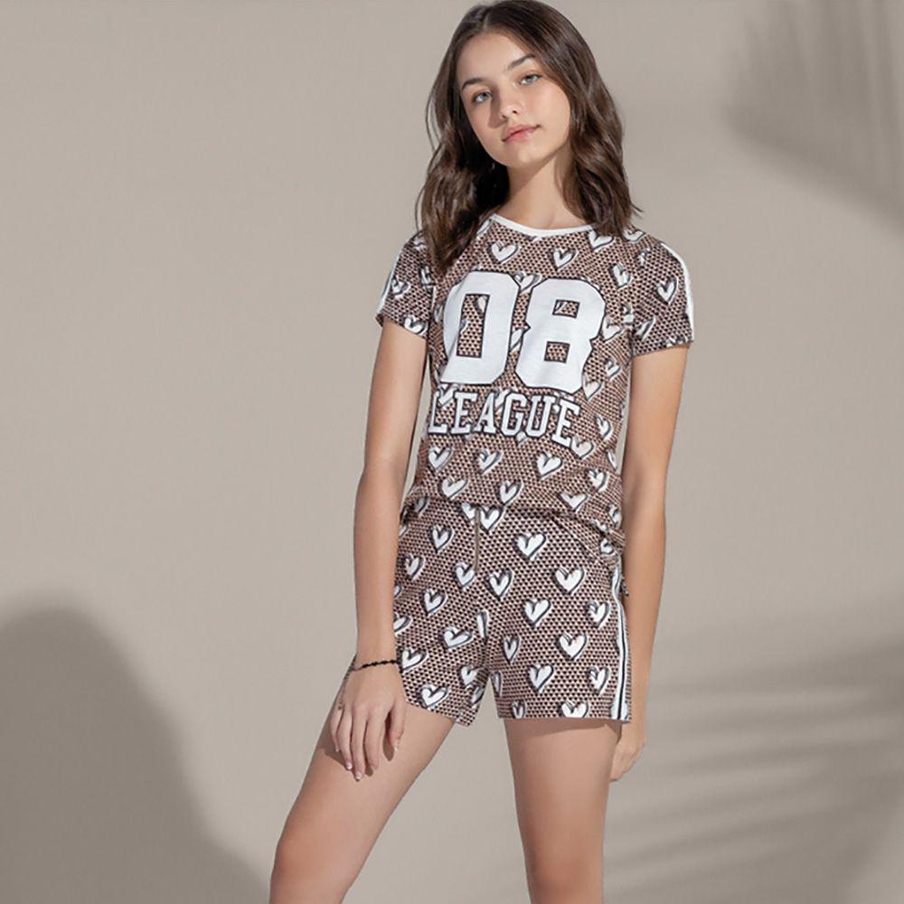 Camiseta Menina Acostamento Hearts 83802022
