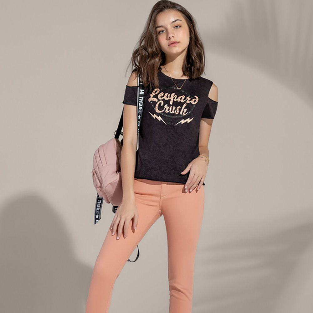 Camiseta Menina Acostamento Leopard Crush 83802014
