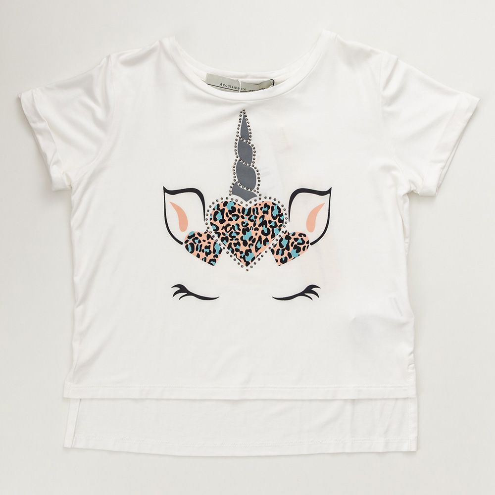 Camiseta Menina Acostamento Unicórnio 83802024