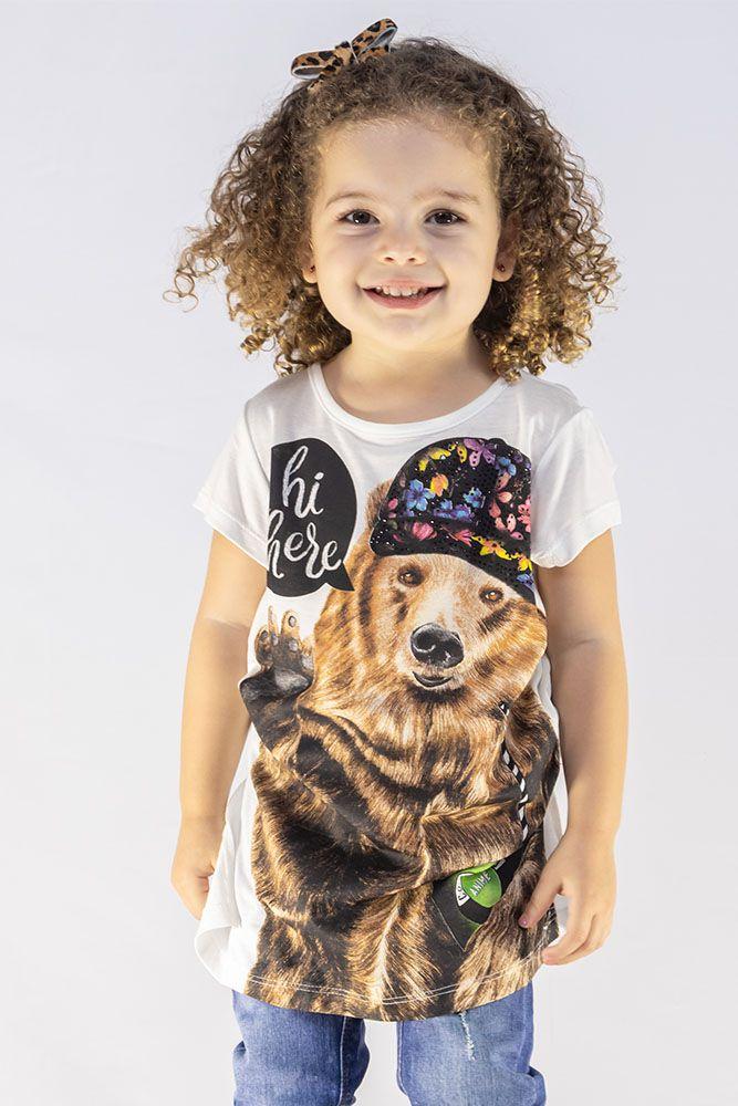 Camiseta Menina Animê Urso M9364