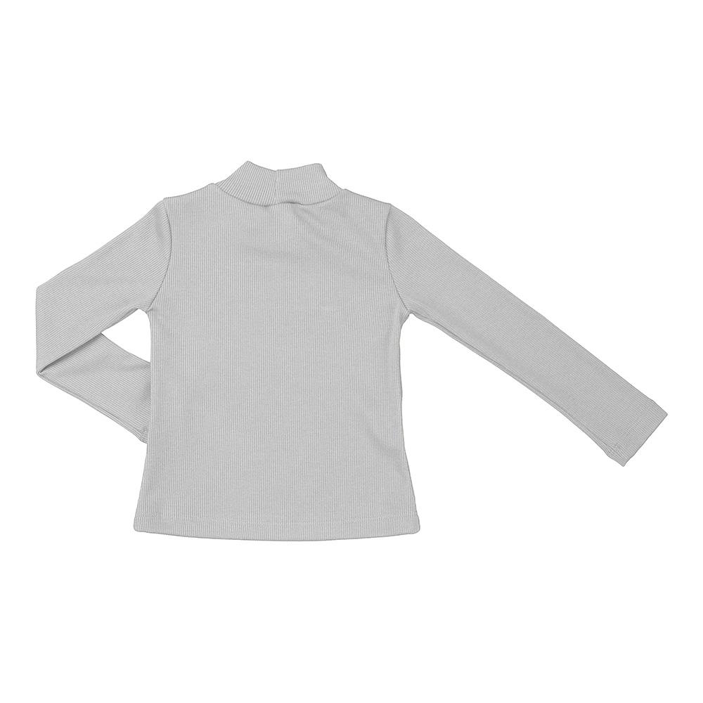 Camiseta Beabá Manga Longa Cinza Claro 808008