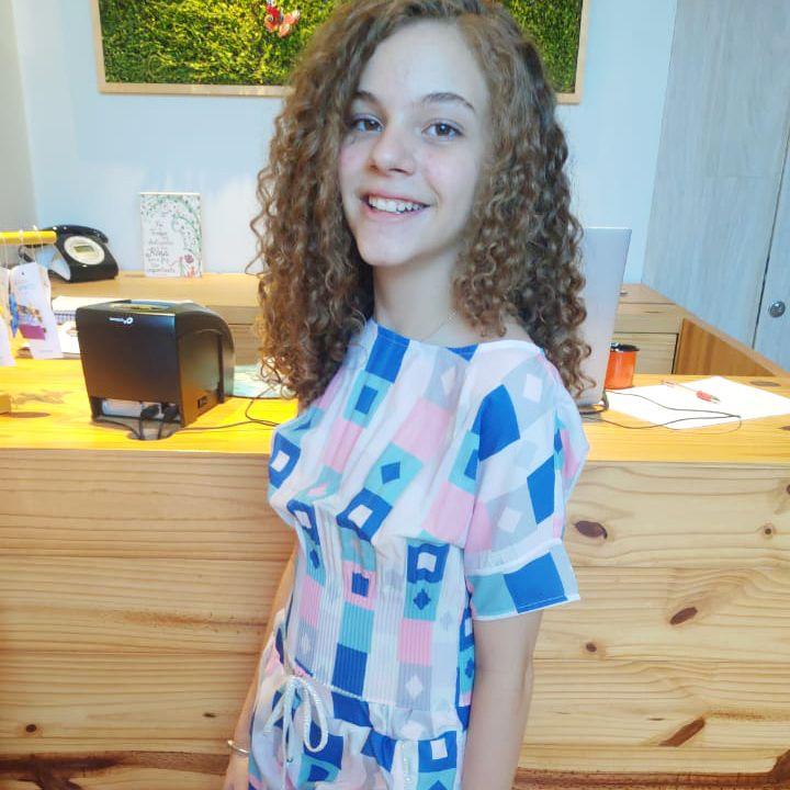 Camiseta Menina Bobbylulu Rosa com Azul Daydreams 20S171