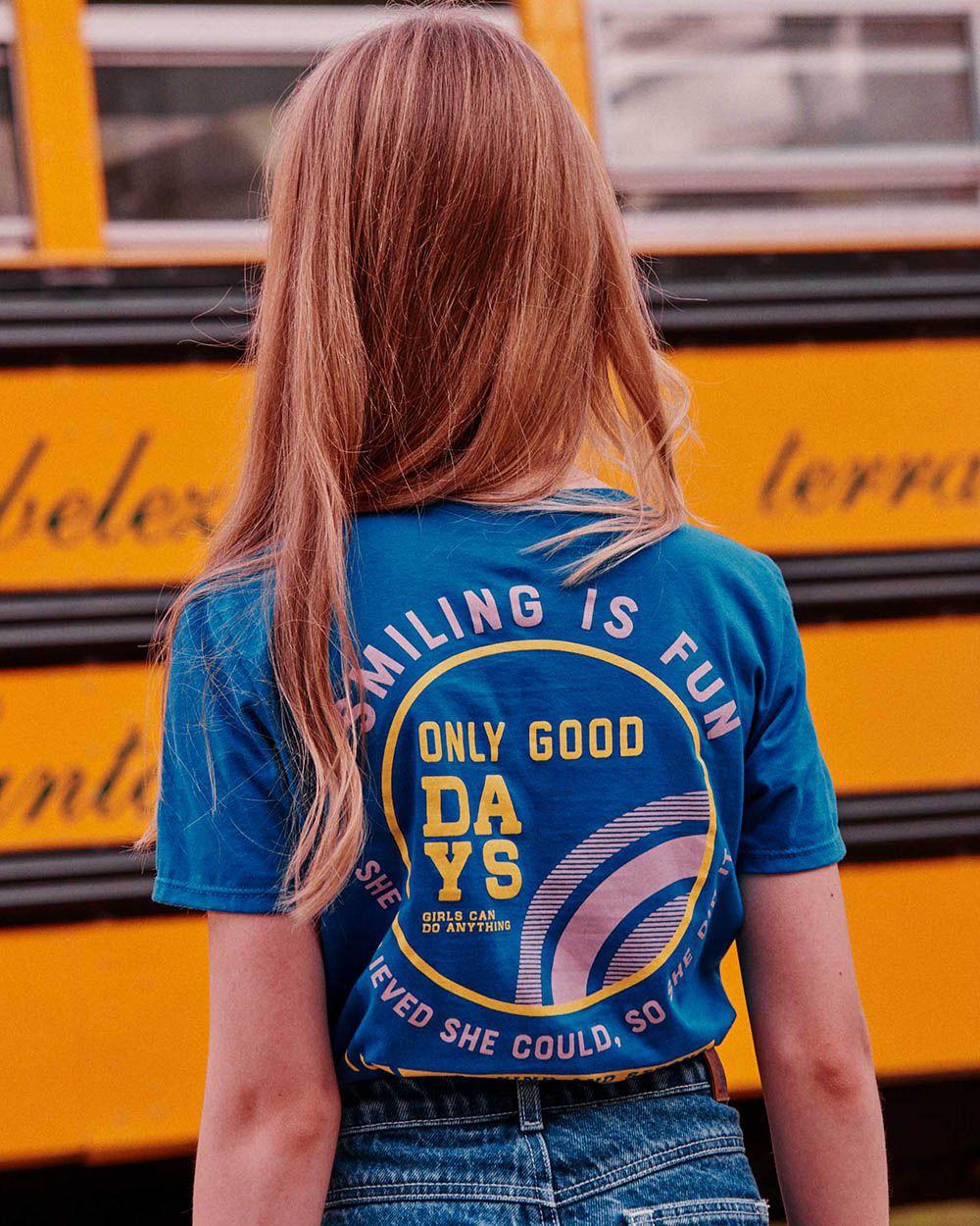 Camiseta Menina Dimy Candy Azul Royal Smiling Is 81947
