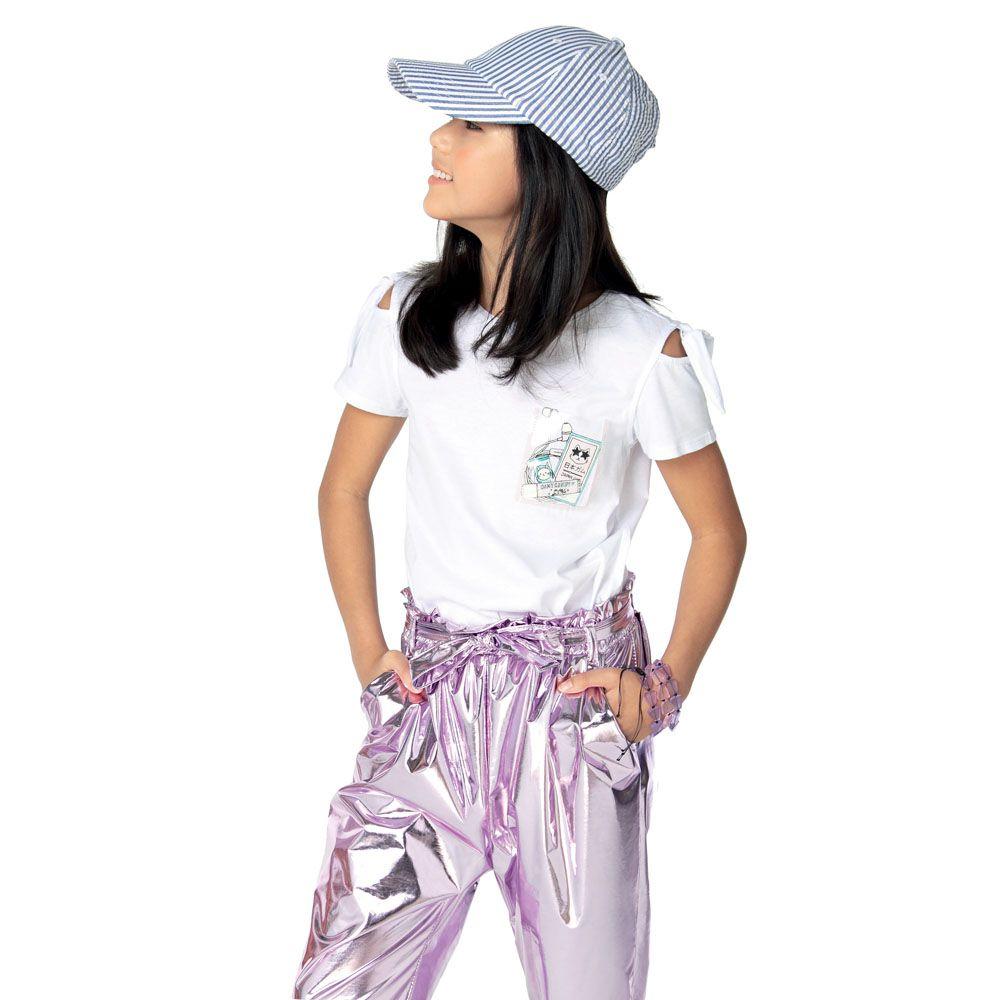 Camiseta Menina Dimy Candy Bolso com Plastic 81192