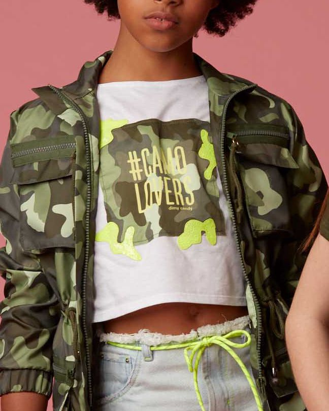 Camiseta Menina Dimy Candy Camo Lovers 81749