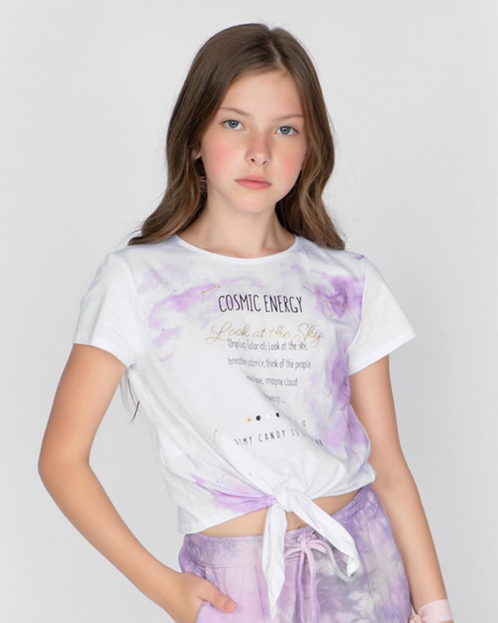 Camiseta Menina Dimy Candy Cosmic Energy 82036