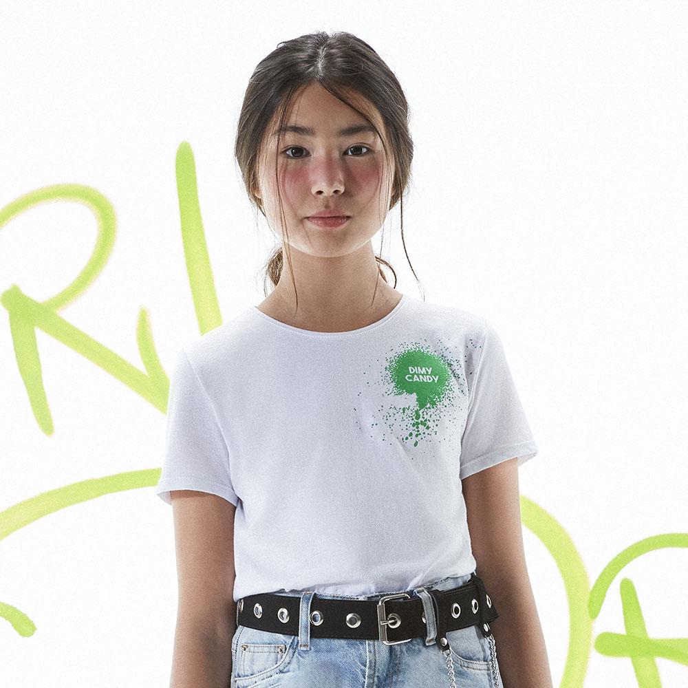 Camiseta Menina Dimy Candy Grafitada TSH82334