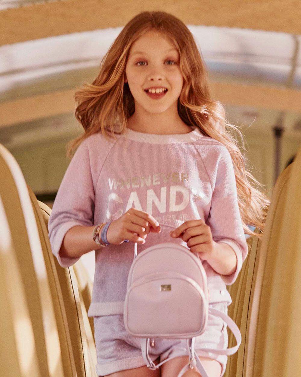 Camiseta Dimy Candy Lilás Tricot Fake 81863
