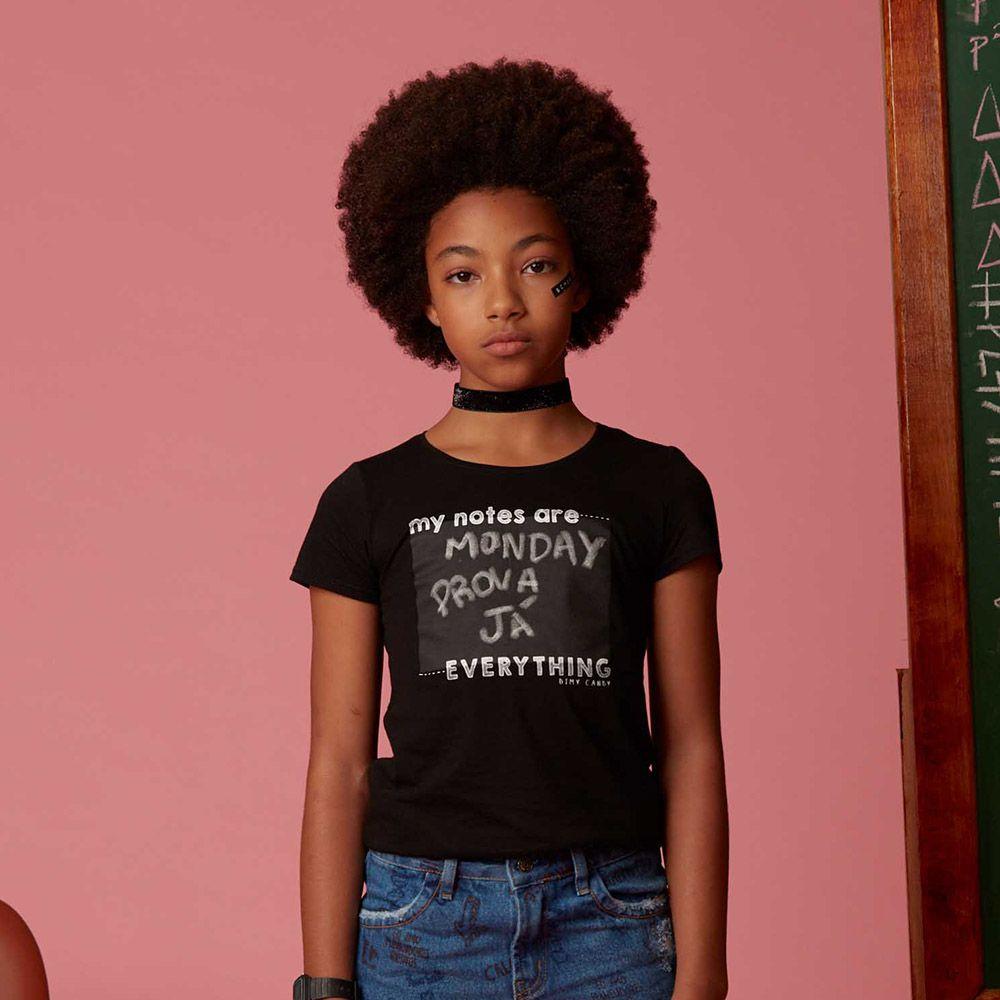Camiseta Menina Dimy Candy Lousa com Giz 81693