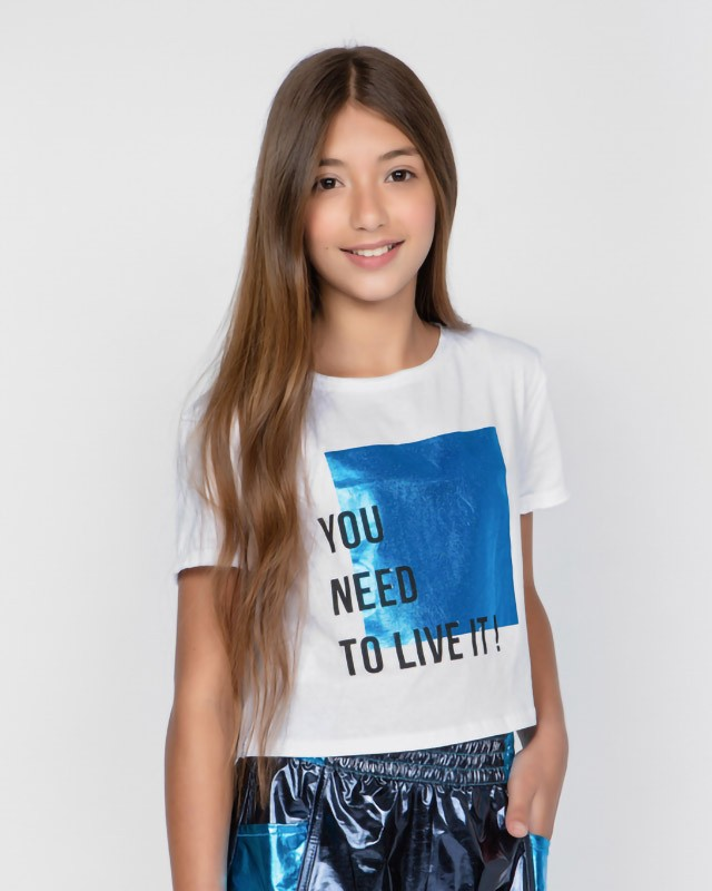 Camiseta Menina Dimy Candy Metalizada You Need 82032