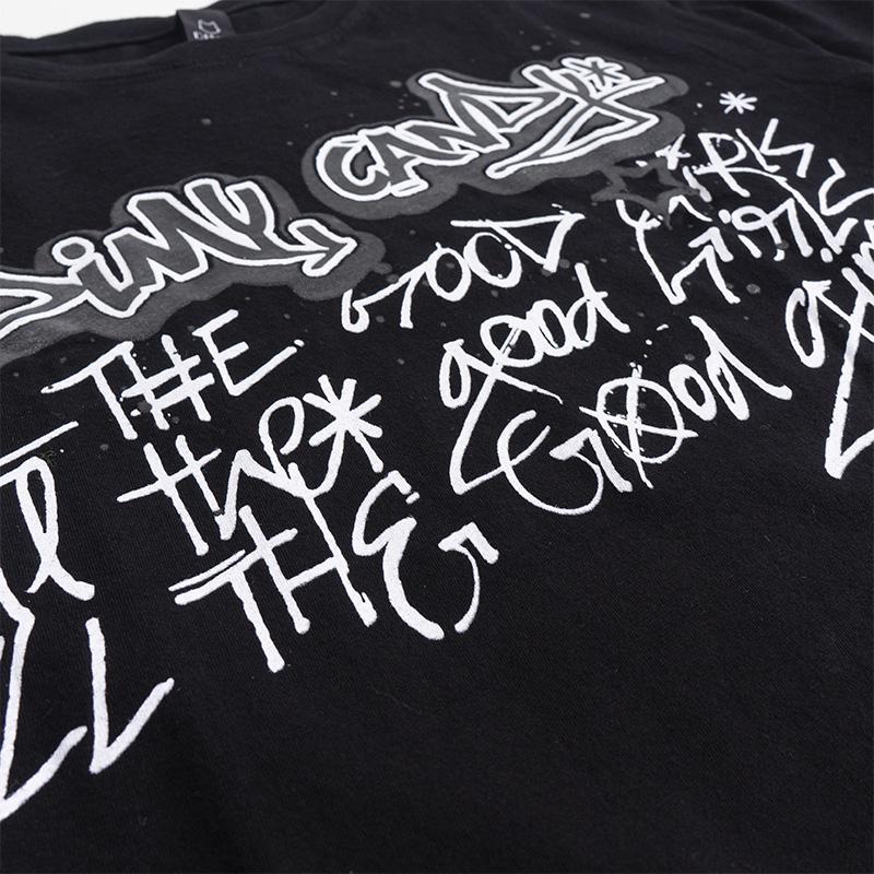 Camiseta Dimy Candy Preta Grafitada 82332