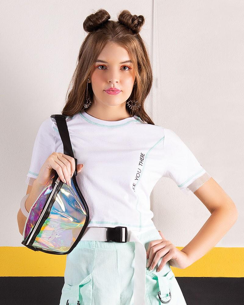 Camiseta Menina Fruto Branca See You There 42550306