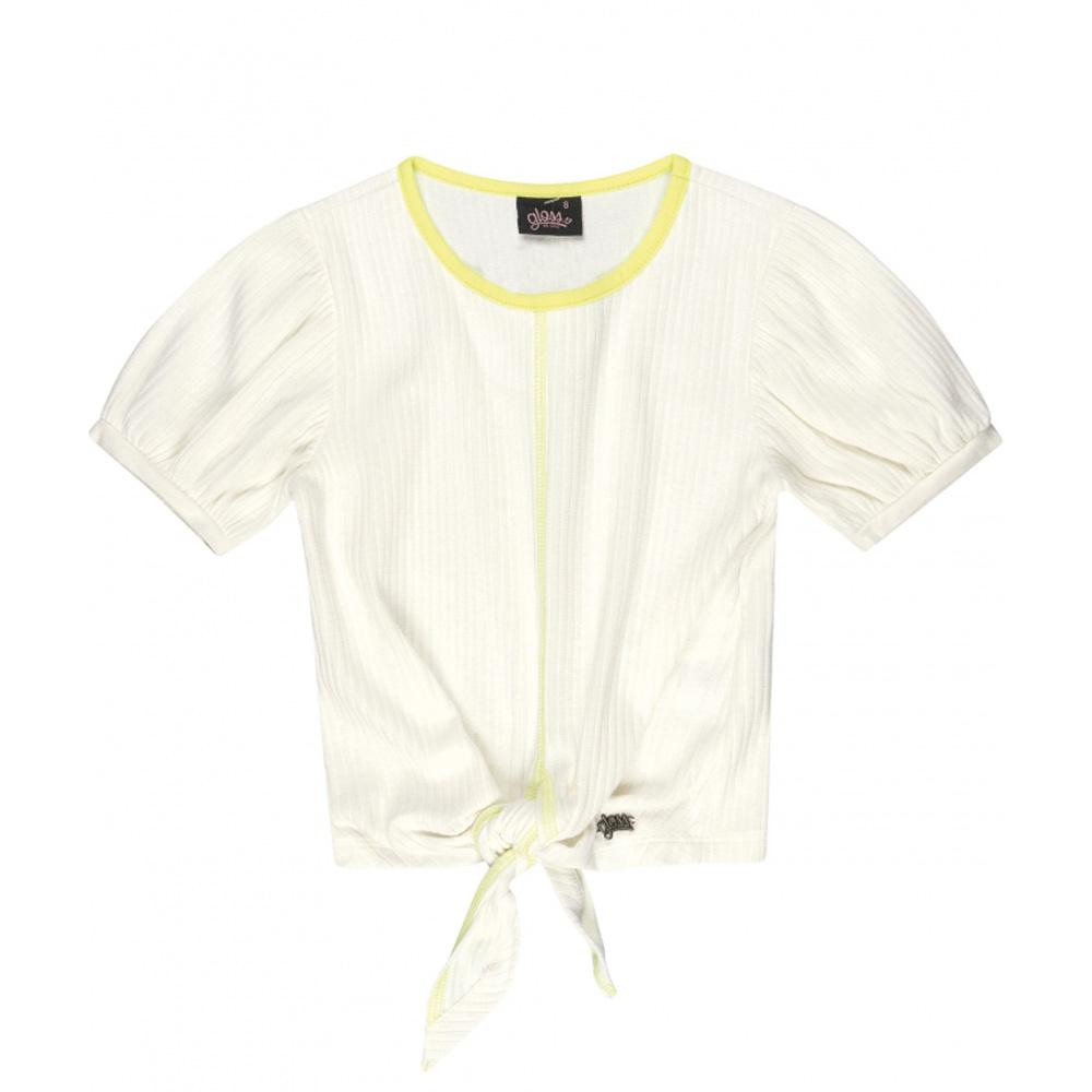 Camiseta Menina Gloss Canelada Offwhite 31155