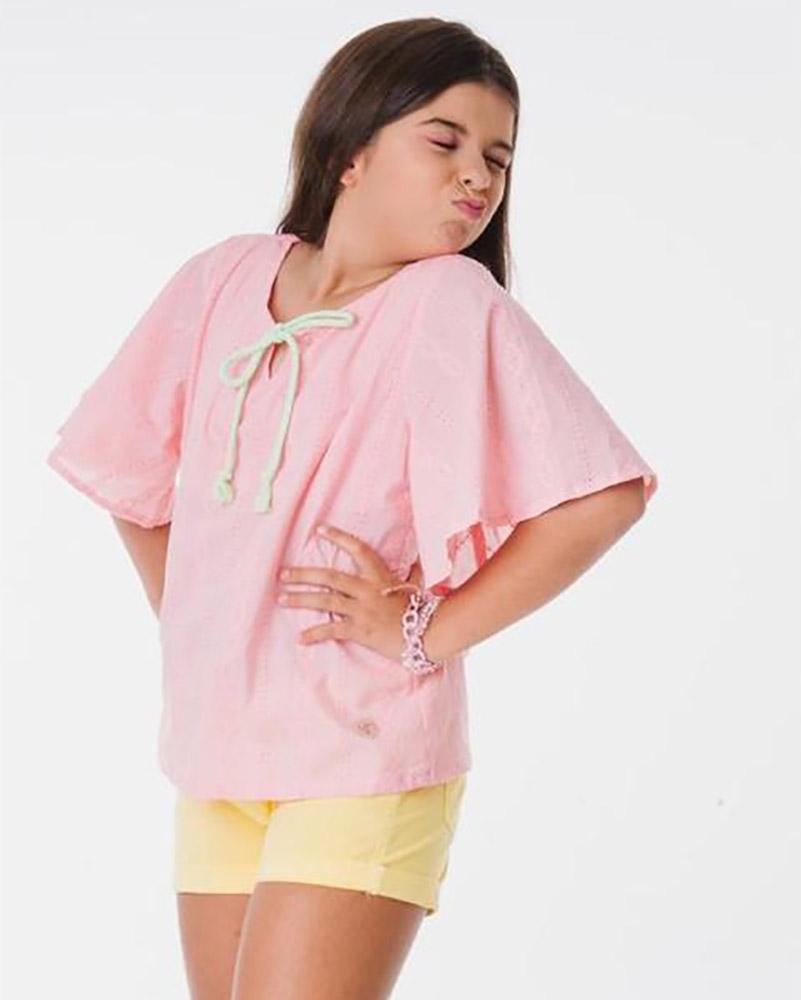 Camiseta Menina L2M Helô Rosa 41291