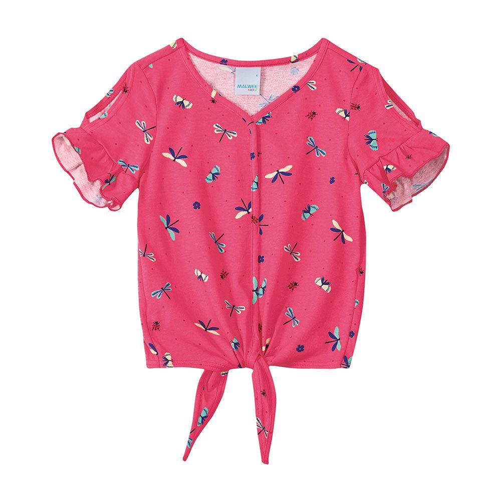 Camiseta Menina Malwee Rosa Libélula 50189