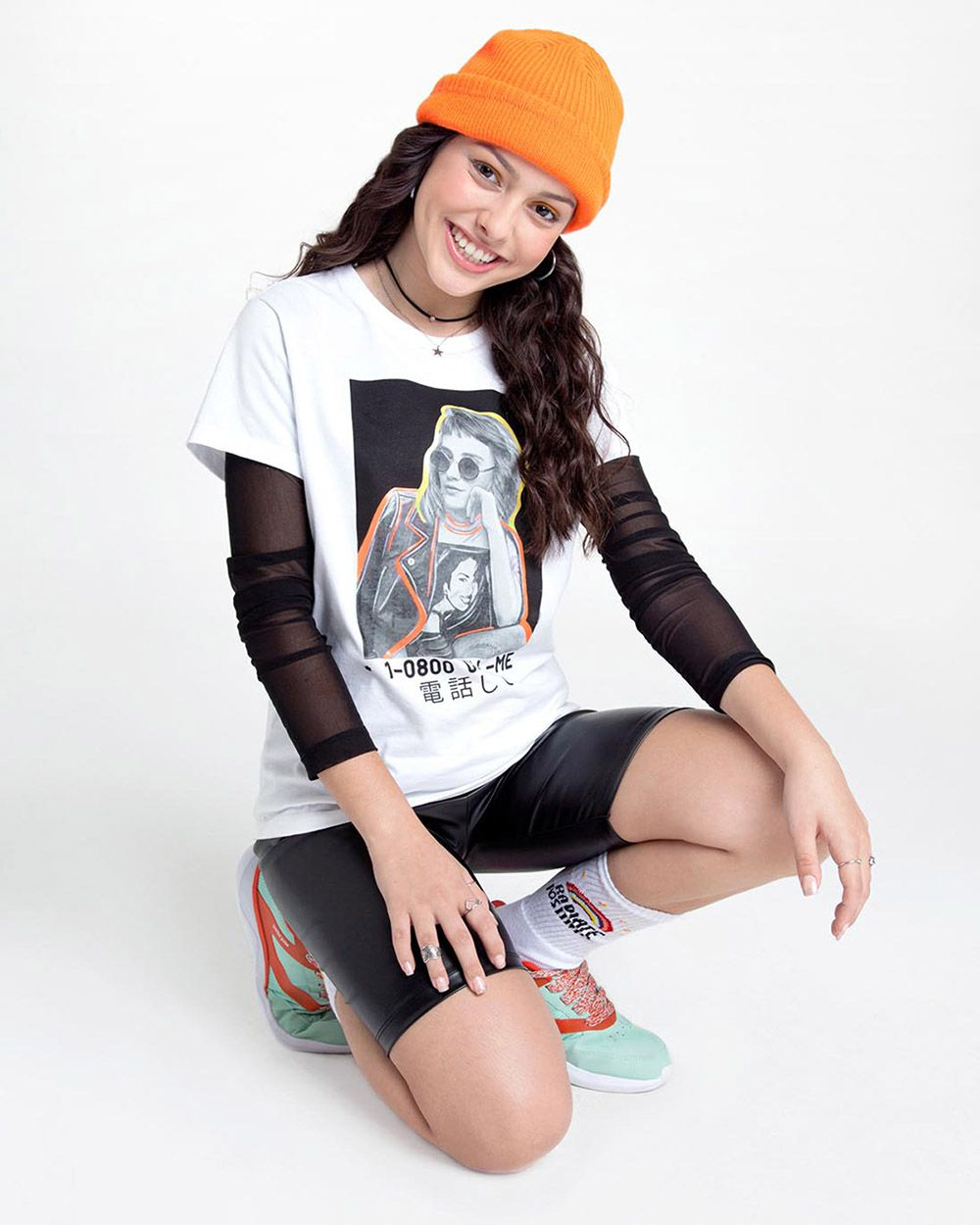 Camiseta Menina Nuv On Tule Preta 60033