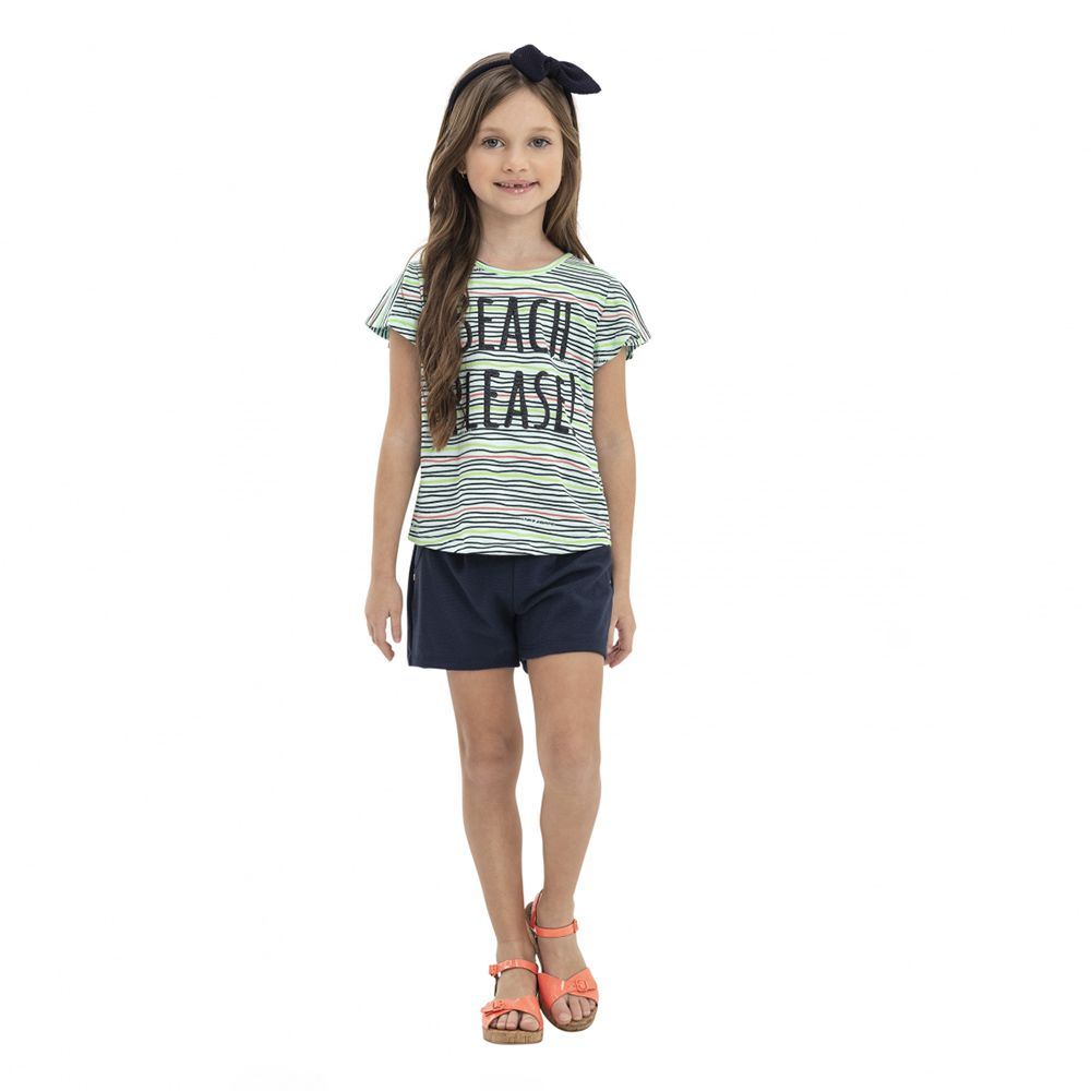 Camiseta Menina Quimby Beach Please Verde 28104