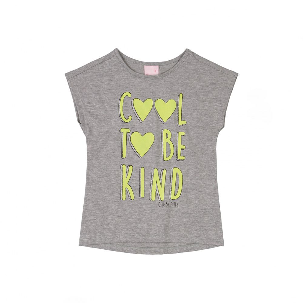 Camiseta Quimby Cool I Be Kind Cinza 28178