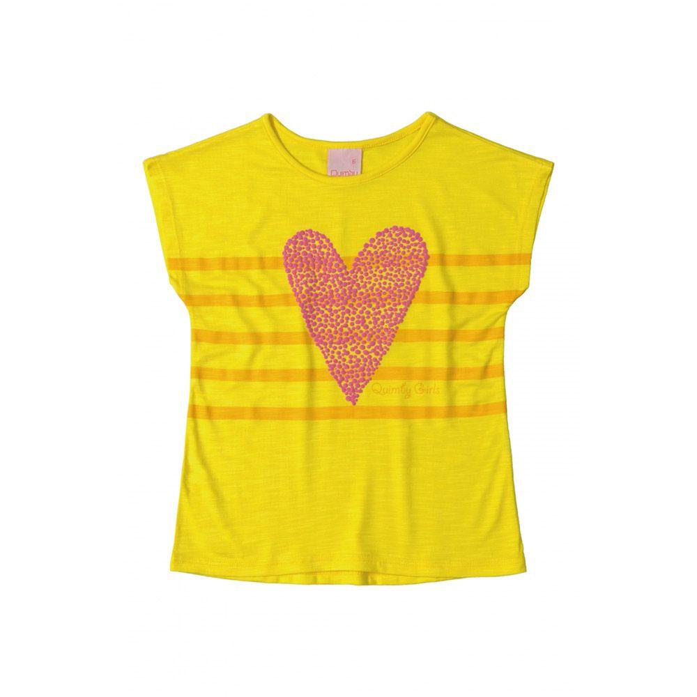 Camiseta Menina Quimby Coração 28062