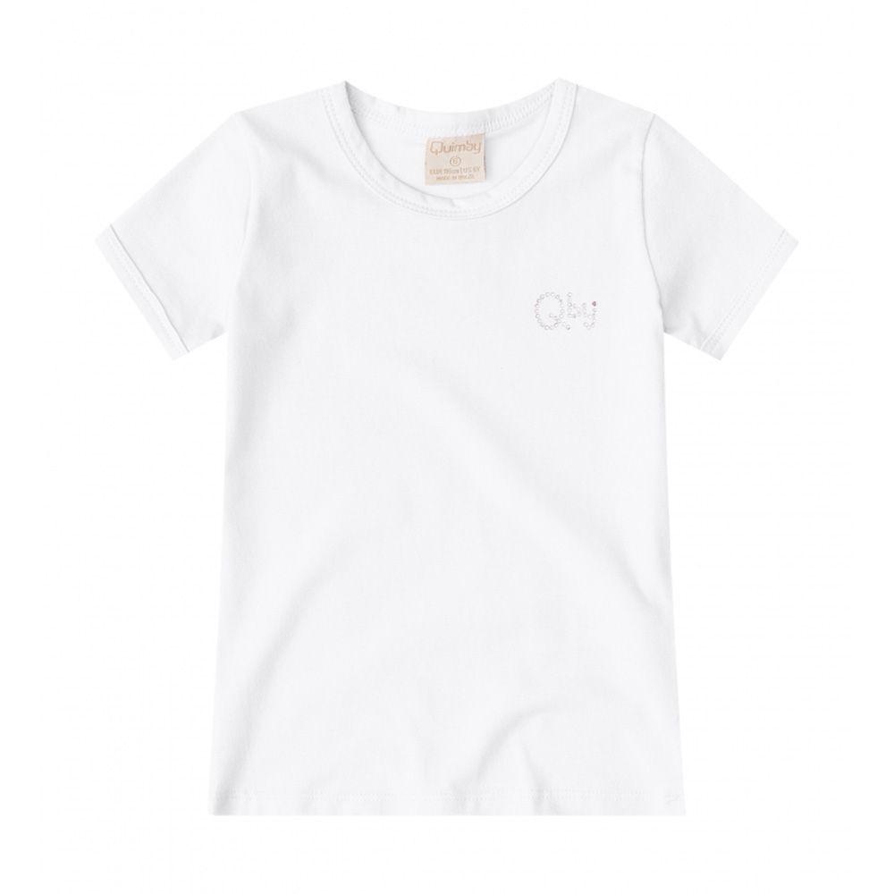 Camiseta Menina Quimby em Cotton Branca