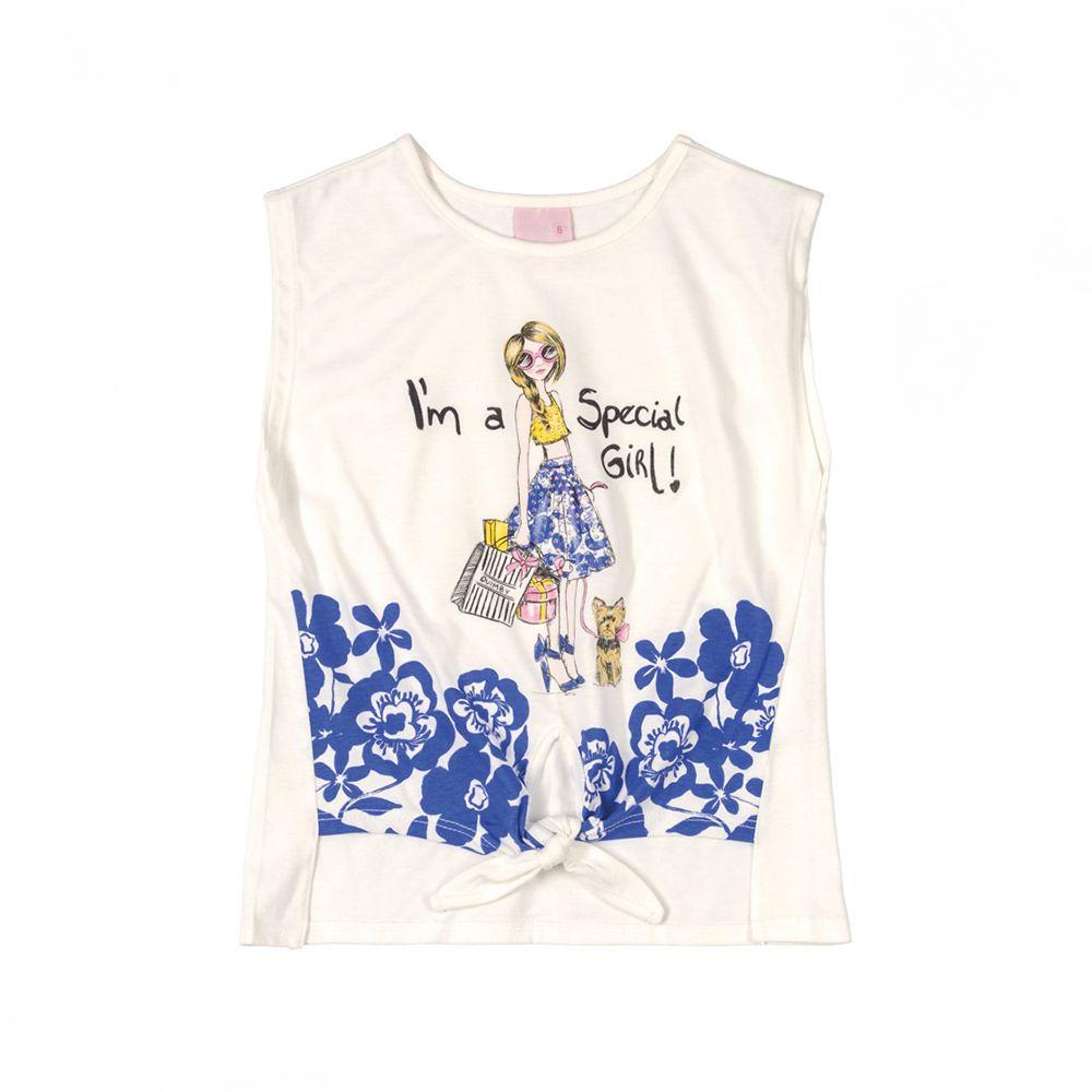 Camiseta Menina Quimby Its A Special Girl Branco 28123
