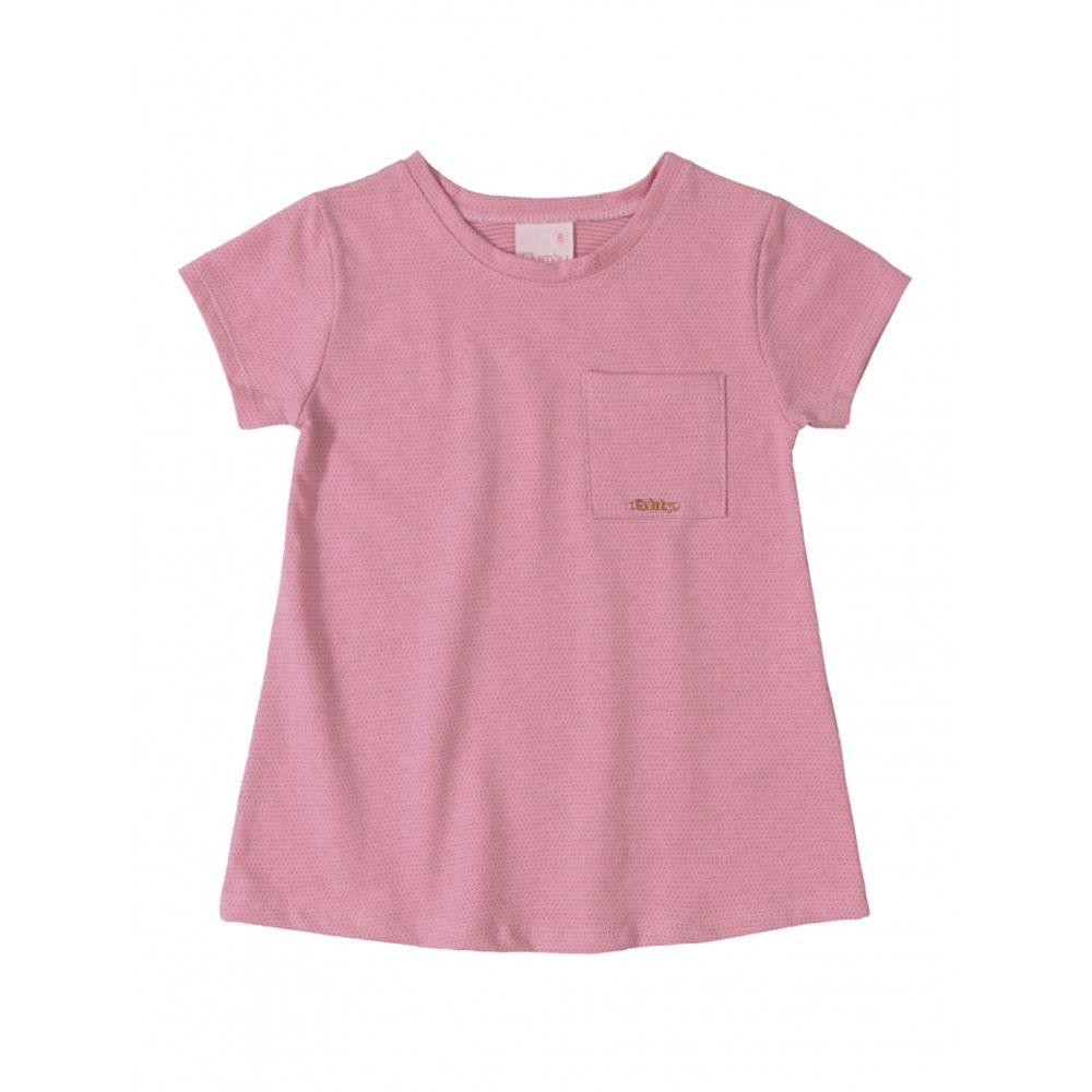 Camiseta Menina Quimby Rosa em Poá 27988