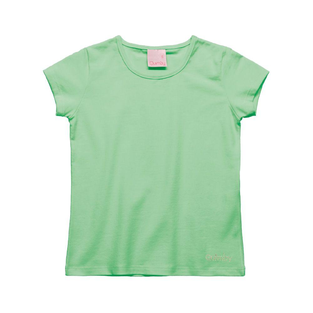 Camiseta Menina Quimby Verde Claro 27989