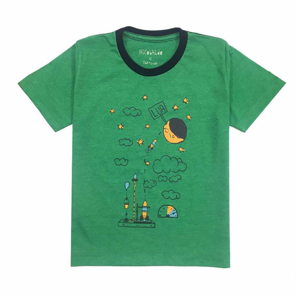 Camiseta Menino Nicobaldo Tshirt Maquina Tsh56