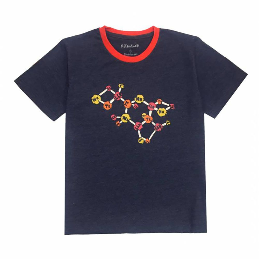 Camiseta Menino Nicobaldo Tshirt Moléculas Tsh57