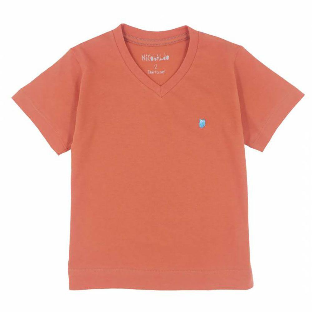 Camiseta Menino Nicobaldo Tshirt V Telha Tsv16