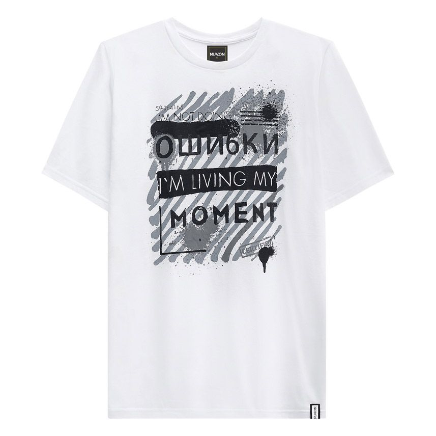 Camiseta Menino Nuv On Im Living My Moment 60340