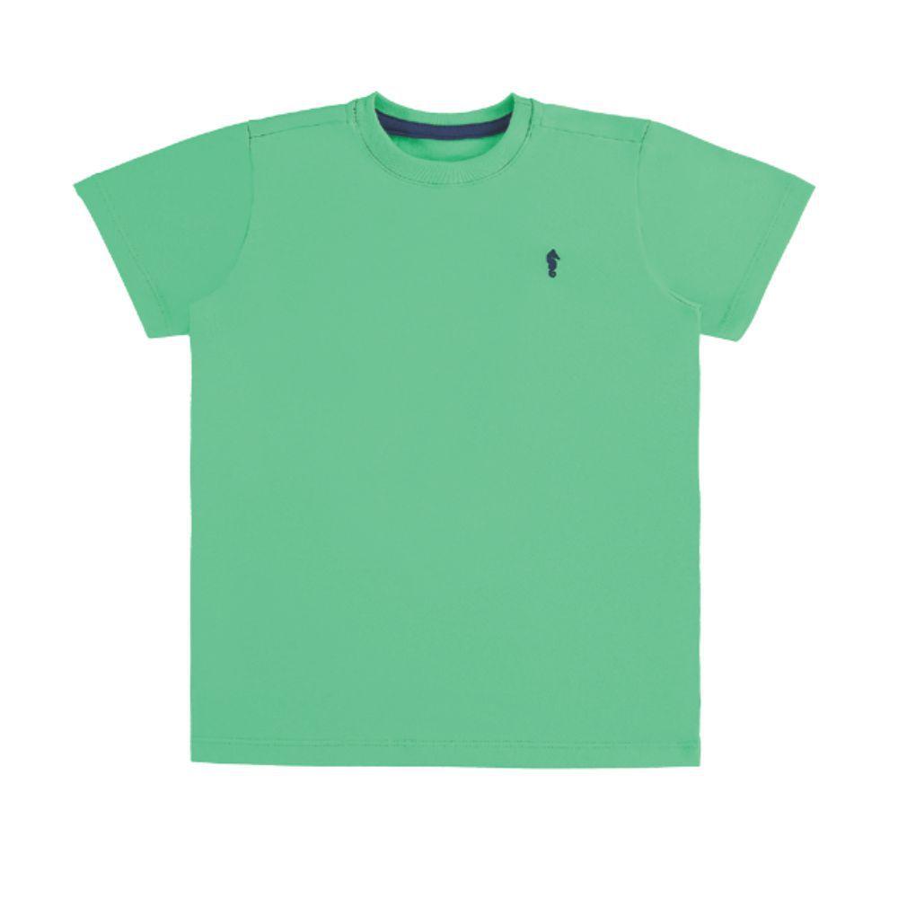 Camiseta Menino Onda Marinha Básica Verde A1602