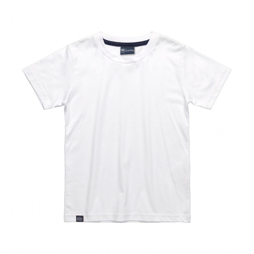 Camiseta Menino Quimby Branca Básica 27994