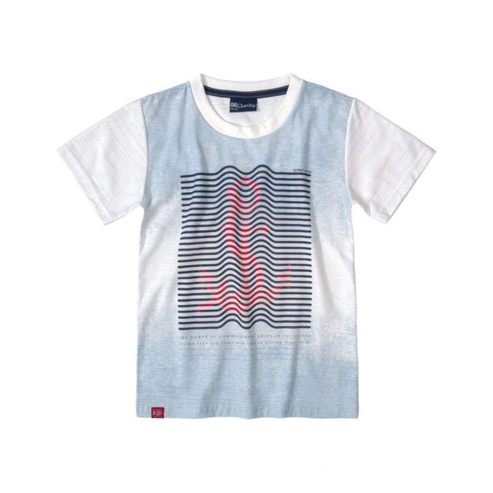 Camiseta Menino Quimby Branco Âncora 28039