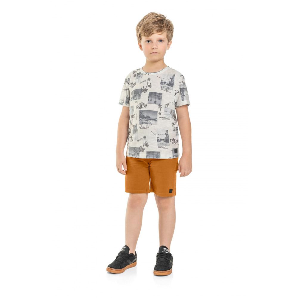 Camiseta Menino Quimby Cinza Coqueiros 28625