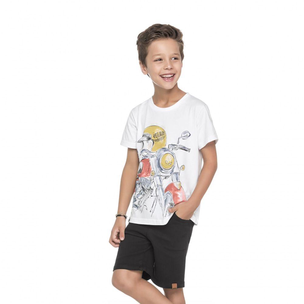 Camiseta Menino Quimby Moto Branco 27978