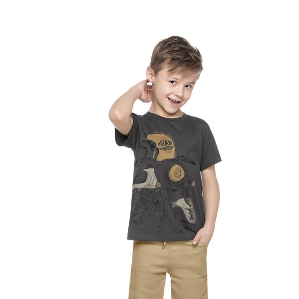 Camiseta Menino Quimby Moto Cinza 27978