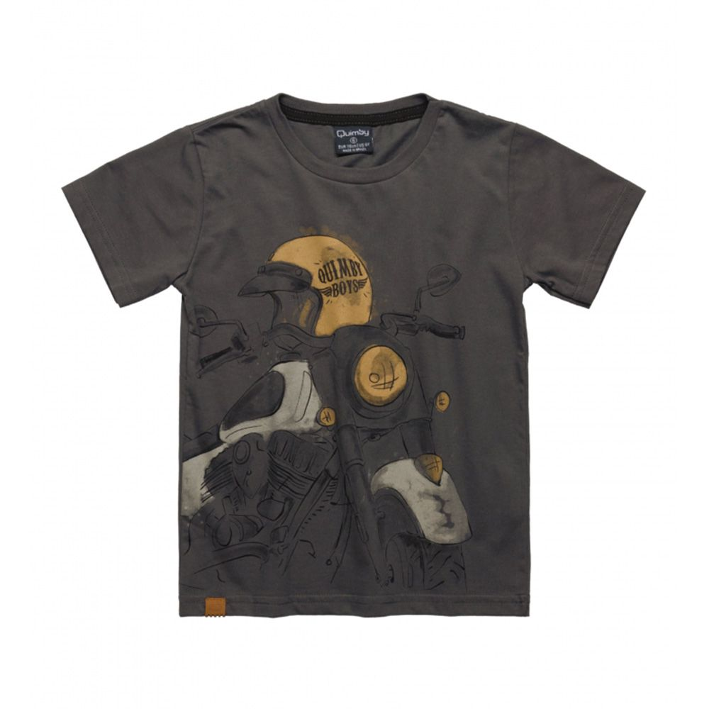 Camiseta Quimby Moto Cinza 27978