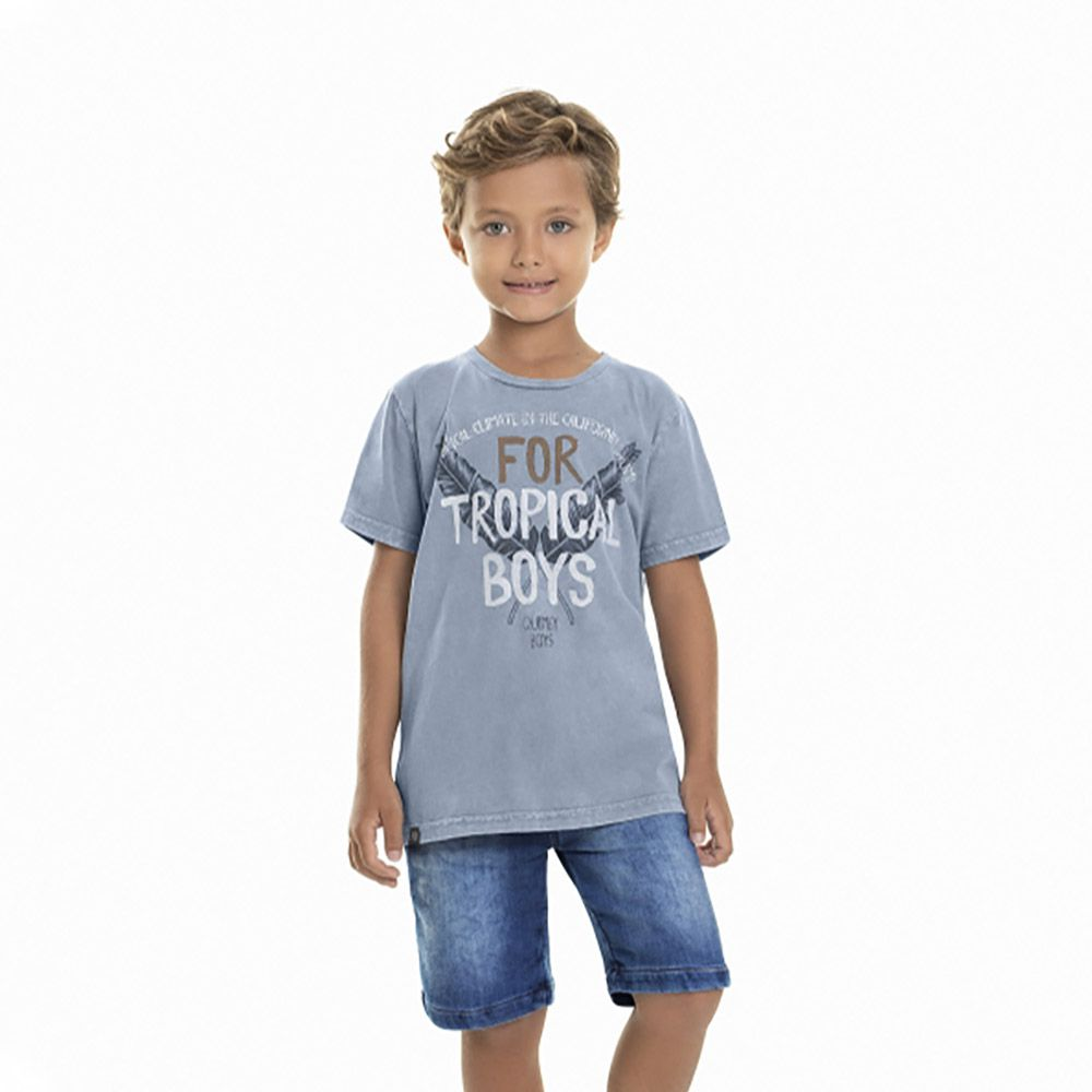 Camiseta Menino Quimby Tropical 28042