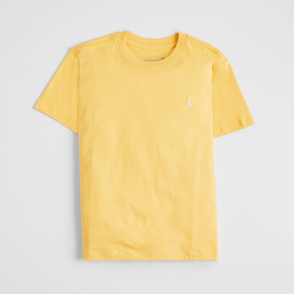 Camiseta Menino Reserva Amarela Básica 46643