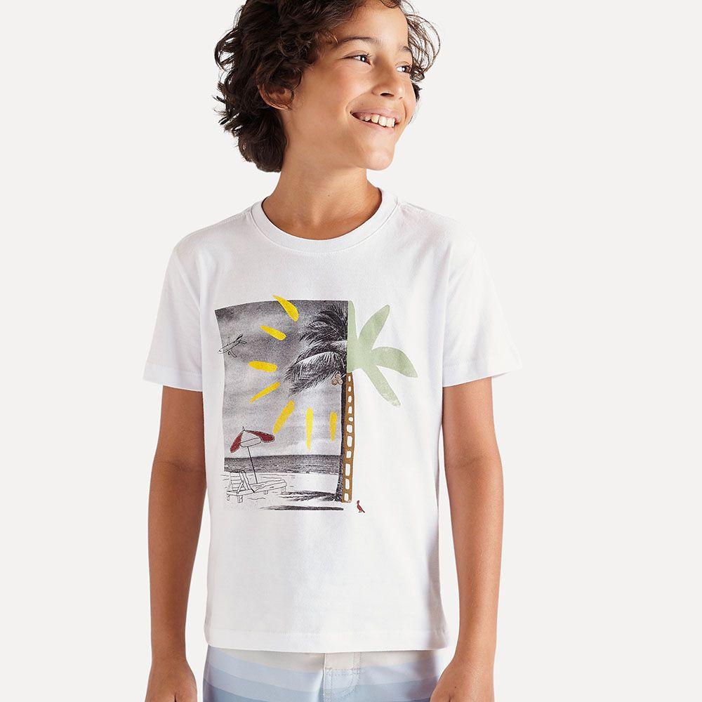Camiseta Menino Reserva Branca Vacation 52675