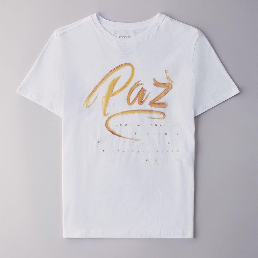 Camiseta Menino Reserva Paz Branco 40938