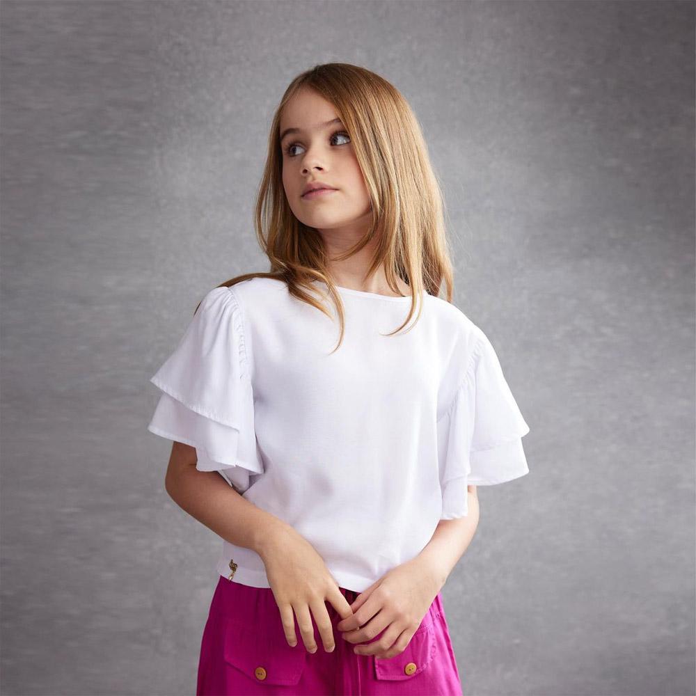 Camiseta Ópera Kids Bata Branca 5494