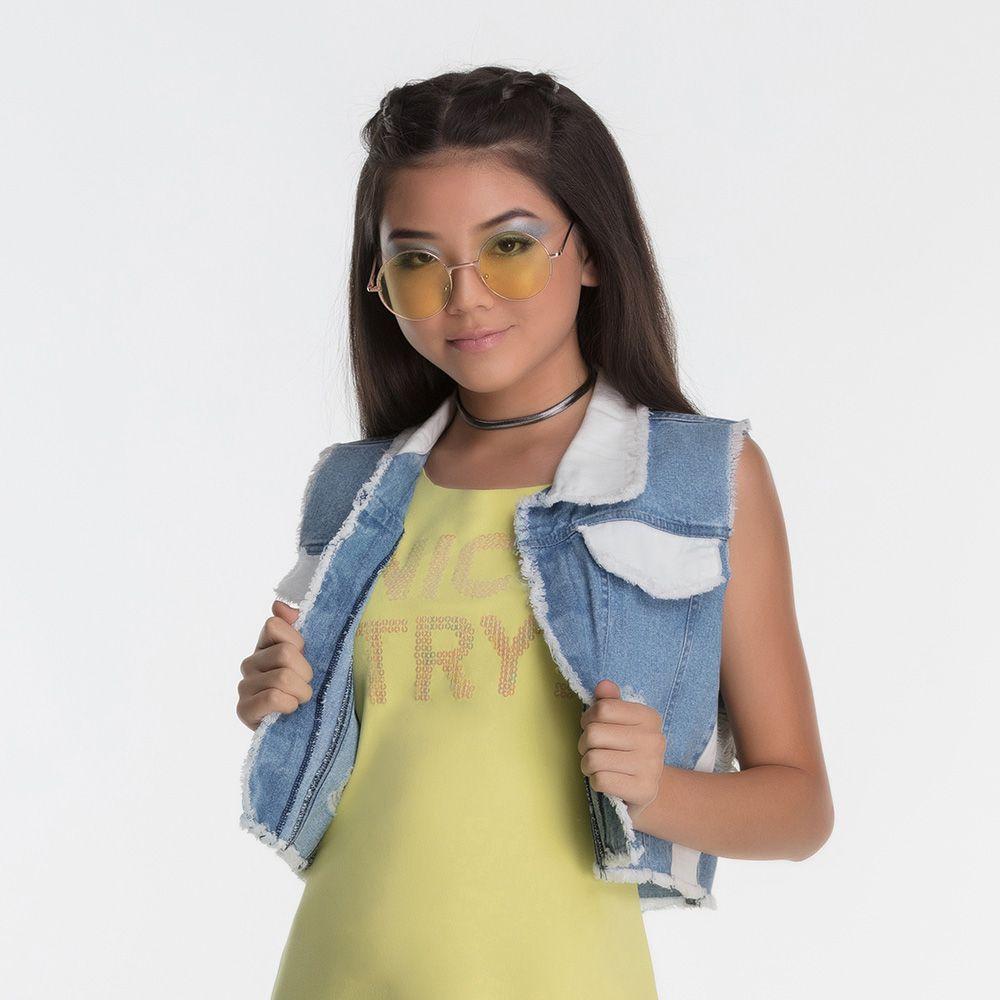 Colete Menina Bobbylulu Jeans Chat 20S210