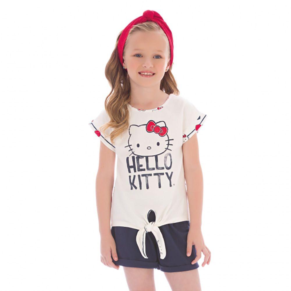 Conjunto Menina Hello Kitty Blusa e Short 87879