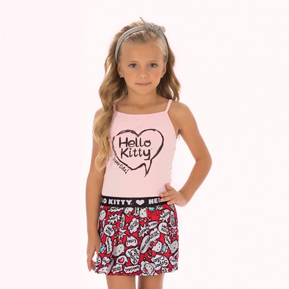 Conjunto Menina Hello Kitty Blusa e Short 87979