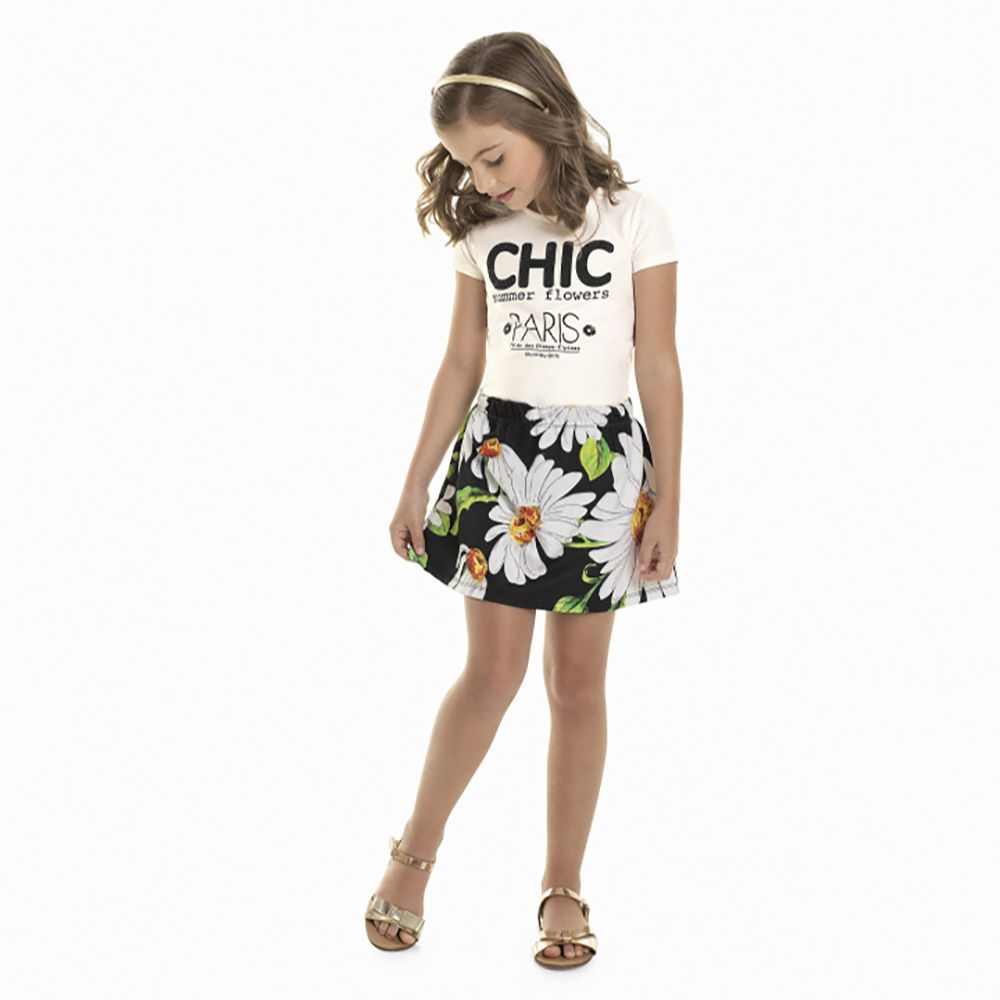 Conjunto Menina Quimby Chic Summer Flowers 28009