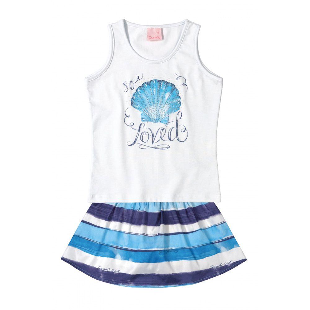 Conjunto Menina Quimby Concha Azul 28017