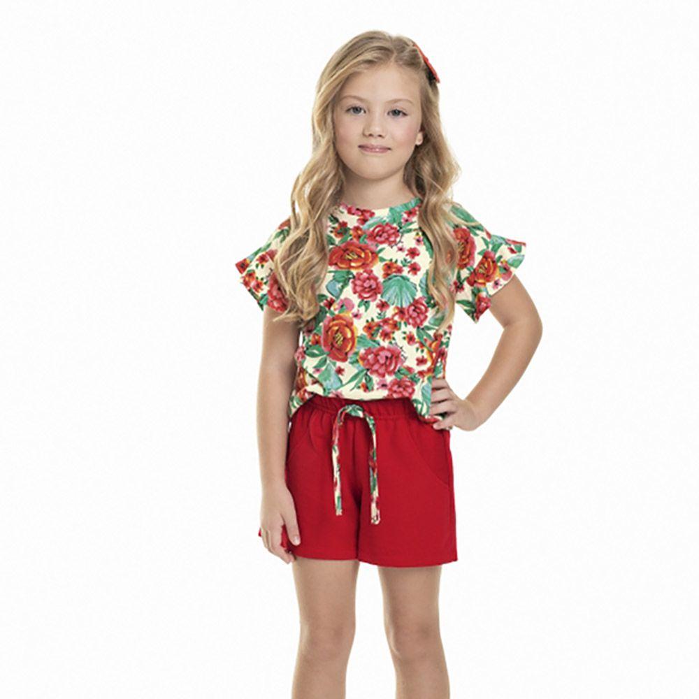 Conjunto Menina Quimby Floral 28066